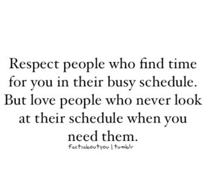quote, respect, and time image