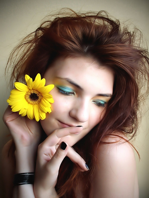 daisy, girl, and make up image