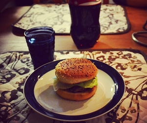 burger, coke, and cozy image