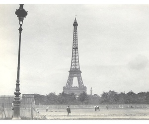 black and white, travel, and eiffel tower image
