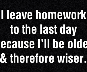 funny, homework, and true story image