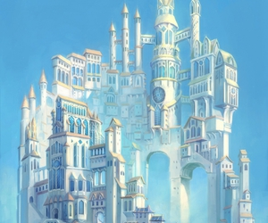 castle, art, and fantasy image