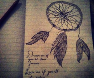 design, drawing, and dreamcatcher image