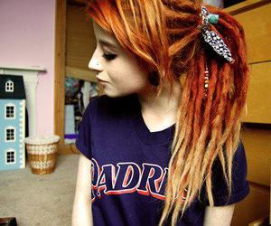 girl, hair, and dreads image