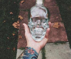 tattoo, skull, and vodka image