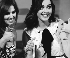 black and white, cheryl cole, and katy perry image