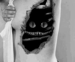 tattoo, cat, and alice in wonderland image