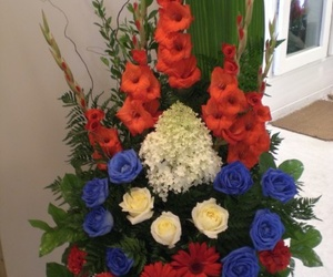 colorful funeral flowers image