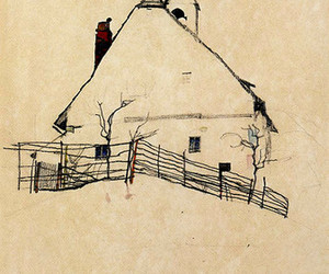 art, egon schiele, and house image