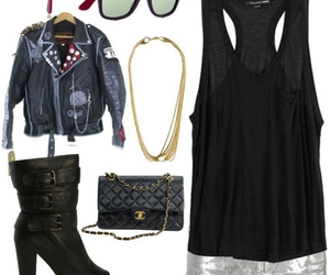 chanel, leather, and outfit image