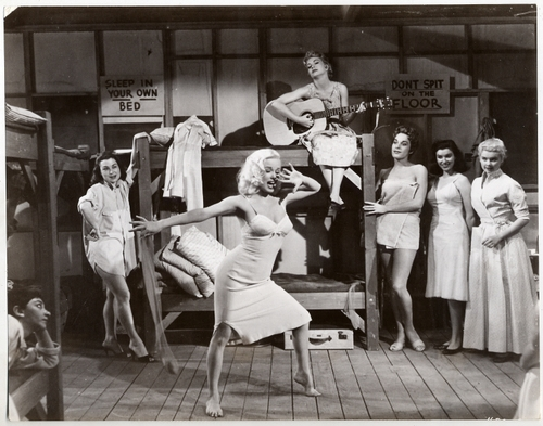 black and white, vintage, and dance image
