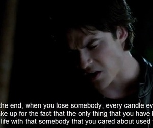 damon, Vampire Diaries, and quote image