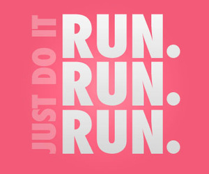 run, nike, and fitness image