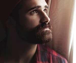 boy, barba linda, and tem cara de lenhador image