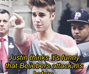 justin bieber, haters, and cute image