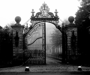 gate, dark, and gothic image