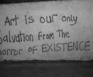 art, black and white, and salvation image