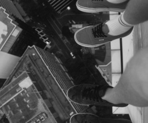 city, vans, and shoes image