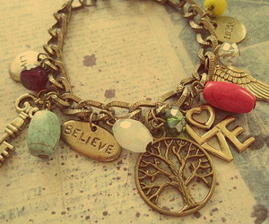 love, bracelet, and believe image
