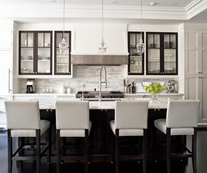 kitchen, interior design, and white image