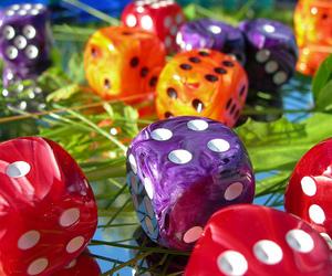 dice, orange, and colors image