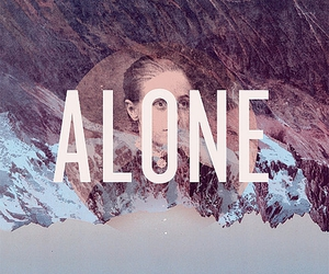 alone, design, and portrait image