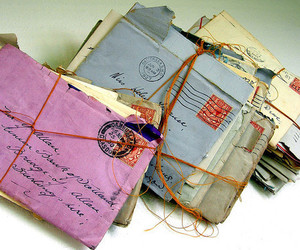 letters, vintage, and mail image