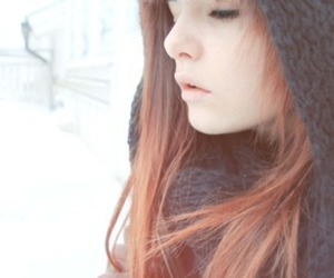 girl, red, and snow image