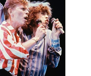 david bowie, rock, and mick jagger image