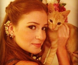 beautiful, cat, and redhair image