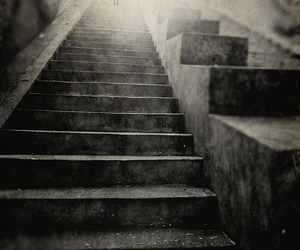 light, photo, and stairs image