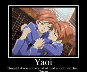 yaoi, ouran host club, and demotivational poster image
