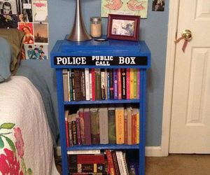 doctor who, tardis, and book image