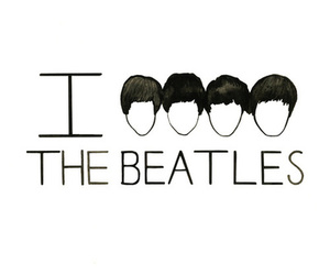 beatles, i love, and music image