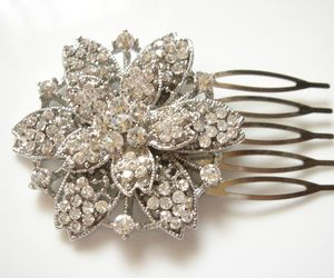 art deco, hair comb, and snowflake image