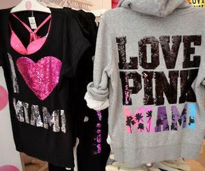 pink, Victoria's Secret, and Miami image