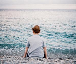 sea, vintage, and boy image