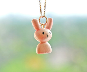 bunny, necklace, and cute image