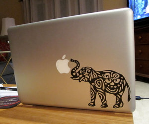 apple, elephant, and sticker image