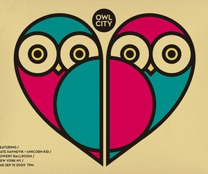 colors, heart, and owl image