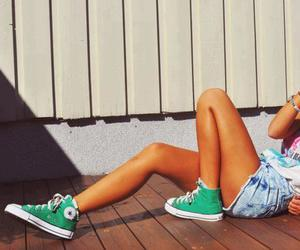 girl, converse, and summer image