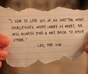 the vow, love, and quote image