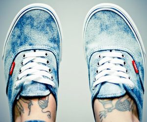 vans, shoes, and tattoo image