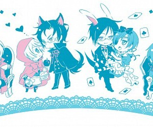 alice in wonderland, kawaii, and lovely image