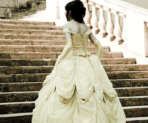 beauty and the beast, dress, and girl image