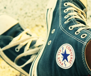 all star, converse, and green image