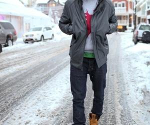jesse williams, snow, and winter image