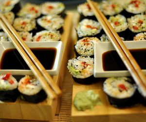 sushi, food, and japanese image