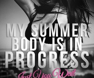 summer, fitness, and motivation image