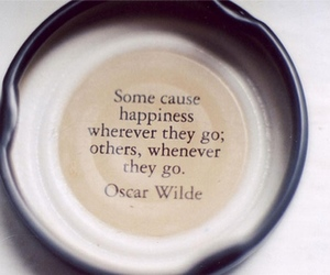 quote, oscar wilde, and happiness image